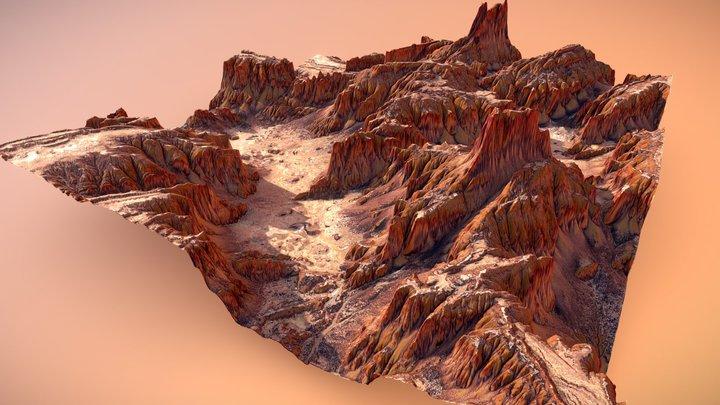 Canyon Terrain 3D Model
