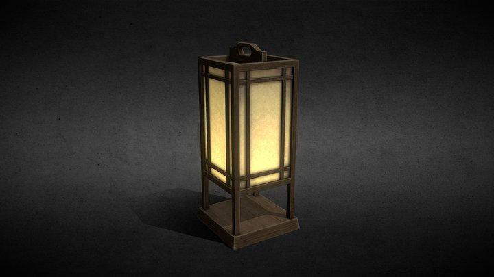 Old Japanese Lamp : Andon 3D Model