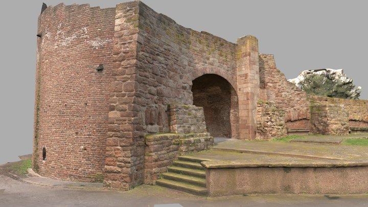 Düren Stadtmauer - Der dicke Turm 3D Model