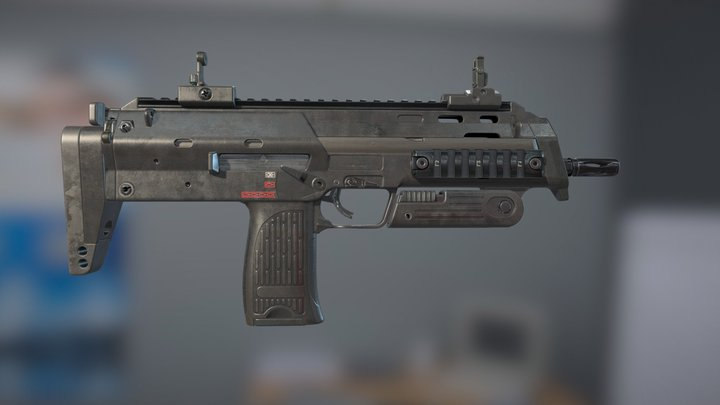 MP7A1 Submachine gun 3D Model