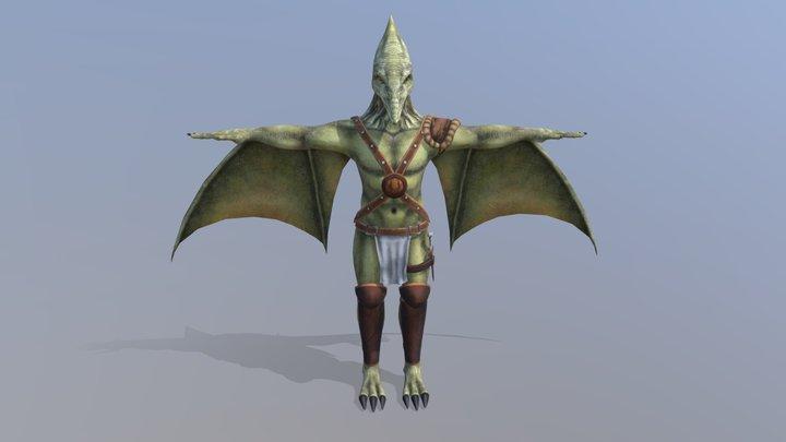 Pterodactyl Warrior 3D Model