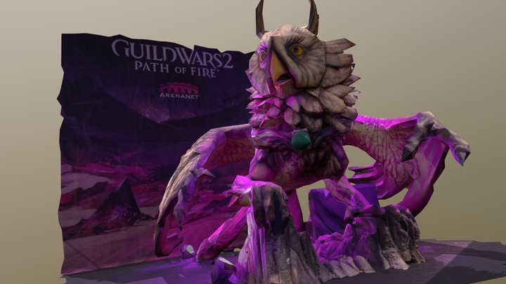 PAX2018 Guild Wars 2 Griffon 3D Model