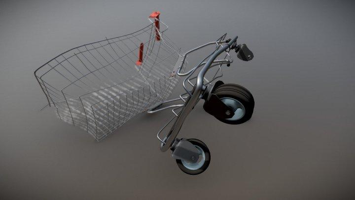 Supermarket Trolley 99% DAMAGE 3D Model
