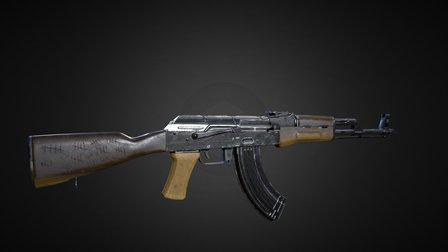 Robert Morris's AKM (Red Dawn 1984) 3D Model
