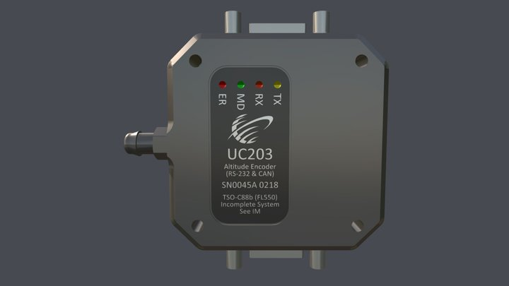 UC203 Altitude Encoder w/CAN 3D Model