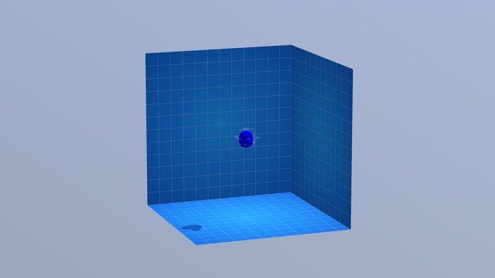 Fursuit Head Blue Print (Dog-ish) 3D Model