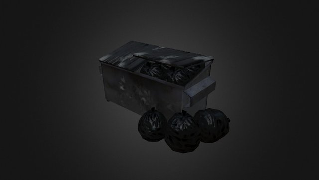 Dumpster Set Sketch Fab 3D Model