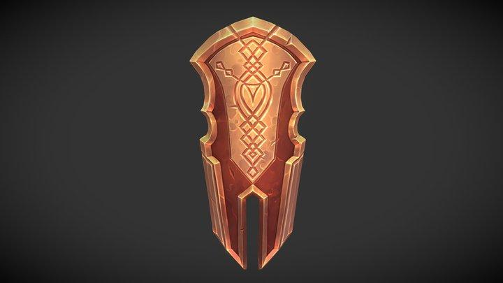 Golden Shield 3D Model