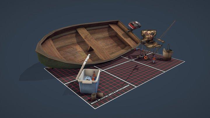 DAE - 5 Props - Fishing Set 3D Model