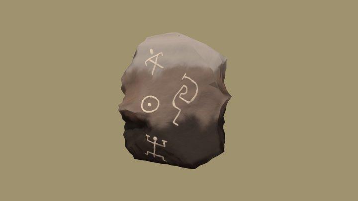 Ancient Rock 3D Model