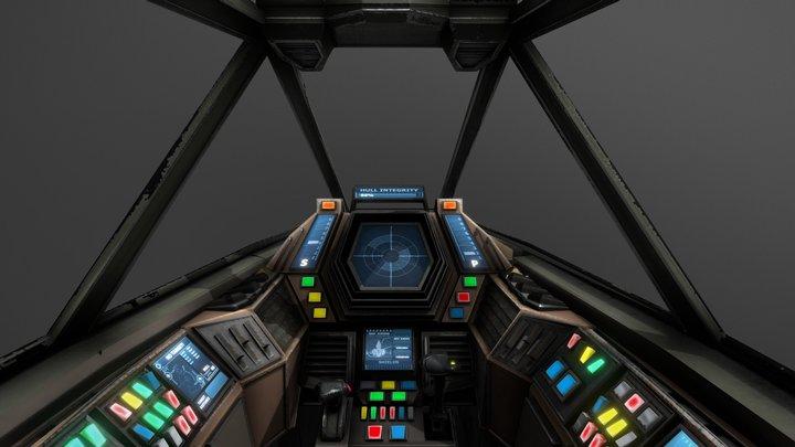 Sci-Fi space fighter Cockpit - Interceptor MK3 3D Model