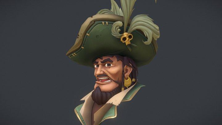 Pirate Bust 3D Model