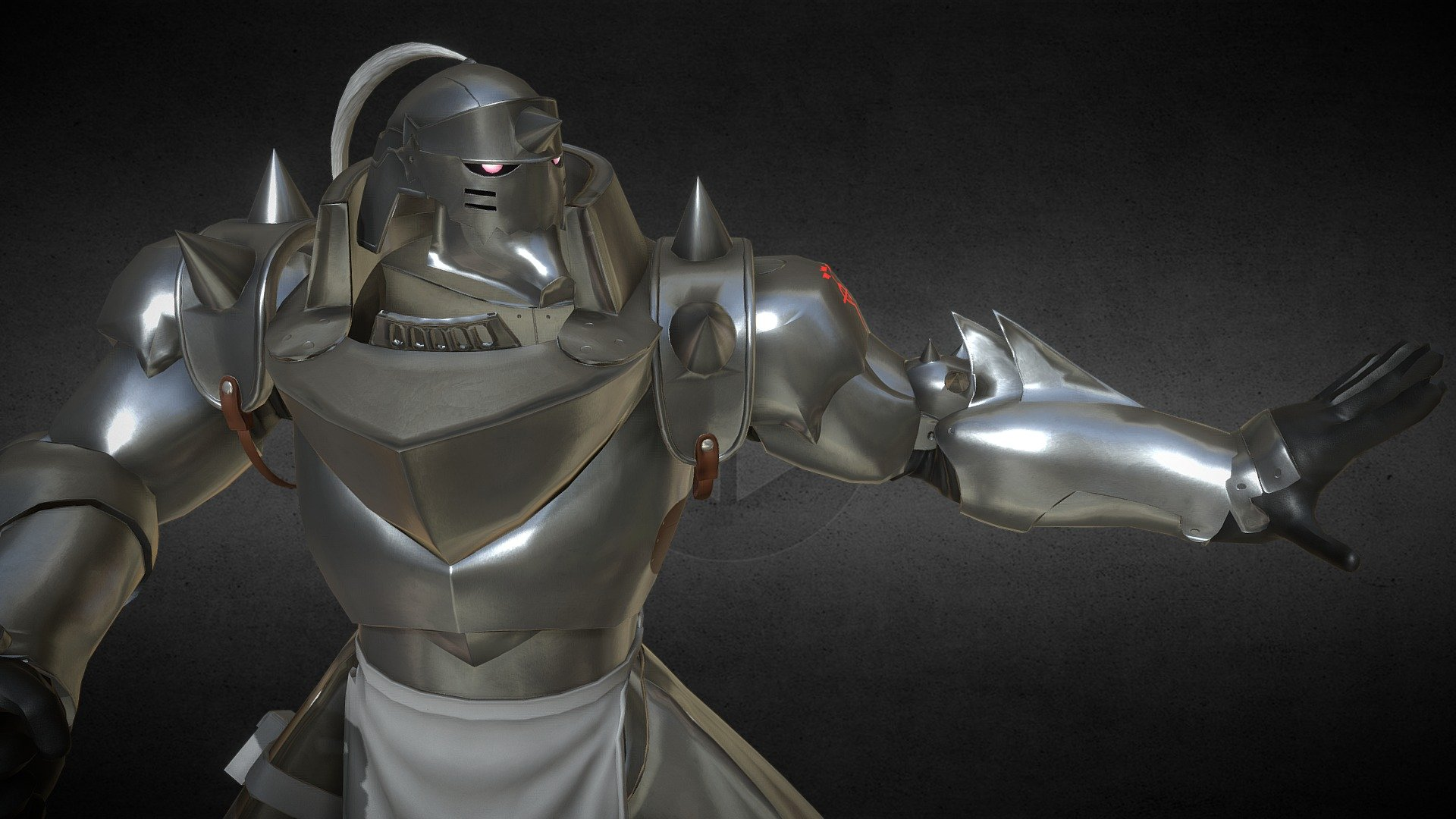Fullmetal Alchemist Brotherhood Alphonse Elric 3d Model By