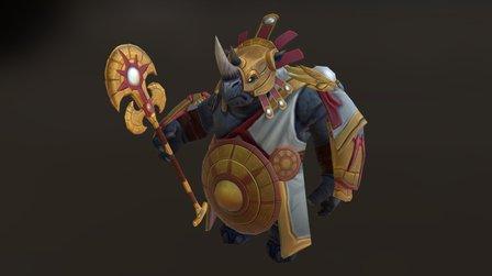 Dungeon hunter 5 Rhino Gaurd 3D Model