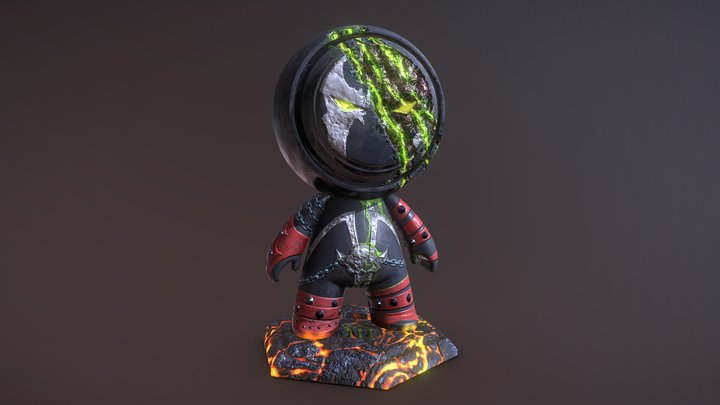 Wounded Spawn 3D Model