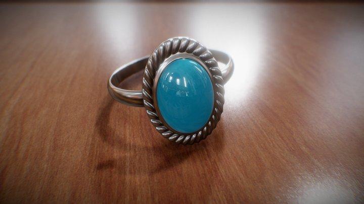 Turquoise Ring 3D Model