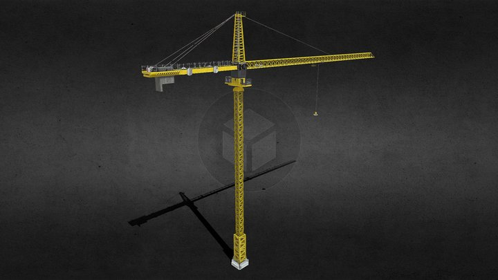 Liebherr tower crane 3D Model