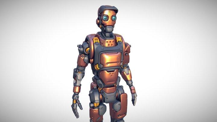 Destructible Robot - Highpoly 3D Model
