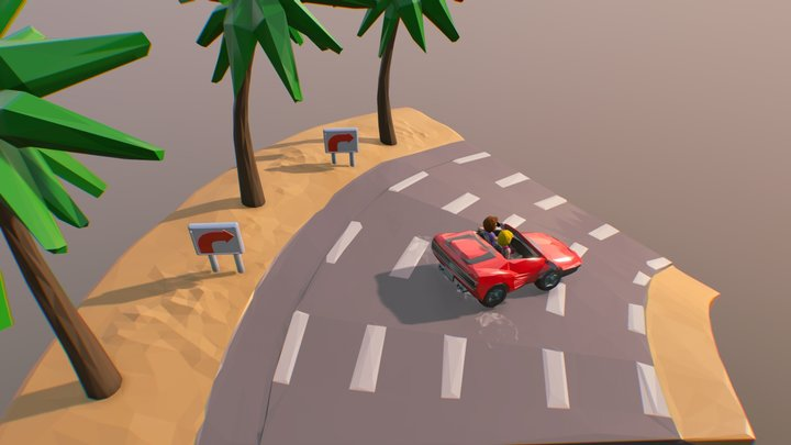 Slice of Outrun 3D Model