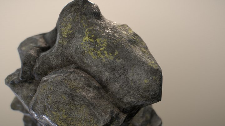 Mountain Rock 3D Model