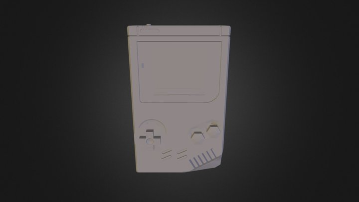 Gameboy poly surface 3D Model