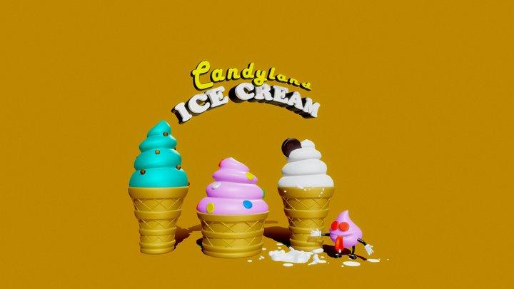 CANDYLAND Ice Cream 3D Model
