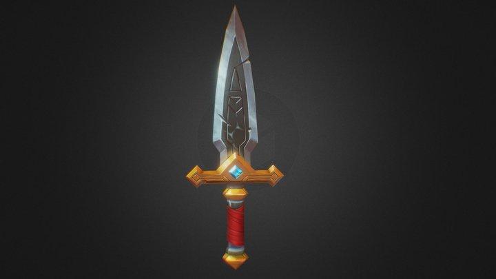 Handpainted lowpoly Sword 3D Model