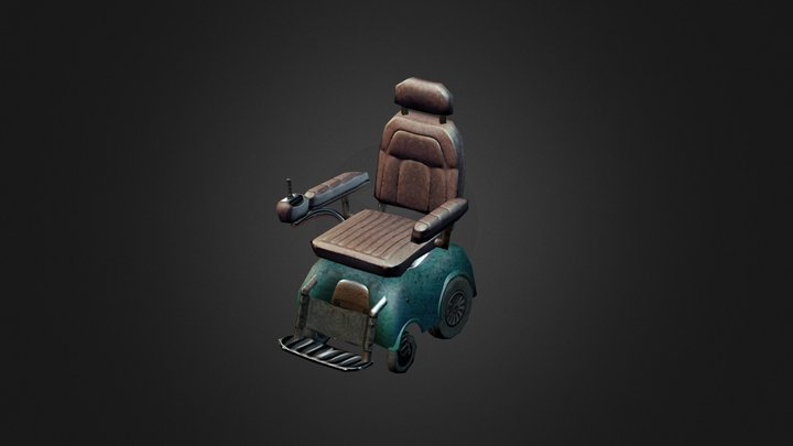 Electric Wheel Chair 3D Model