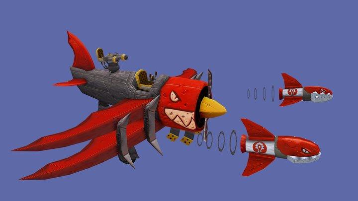 Goblin Biplane 3D Model