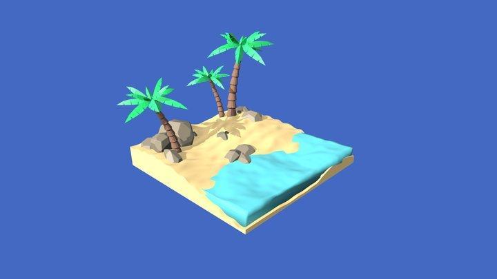 The beach 3D Model