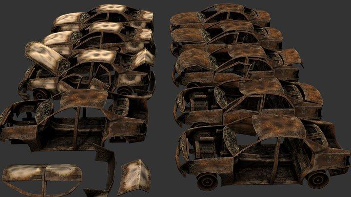 Burned Car Kit 3D Model