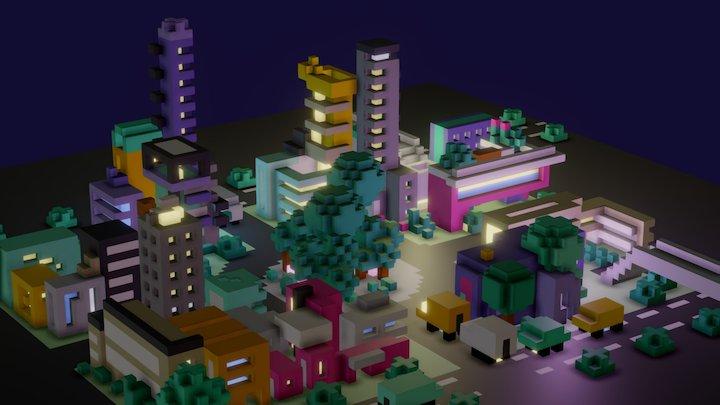 Random Town 3D Model