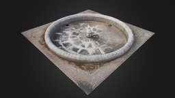 Dry Fountain 3D Model