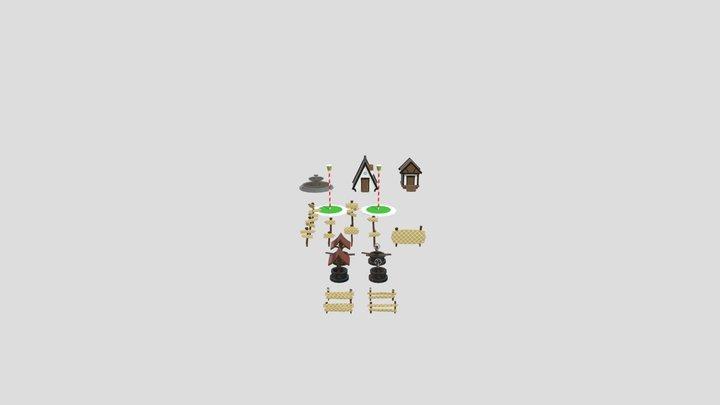 Itens de cenário 3D Model