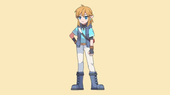 Pokemon Trainer Link 3D Model