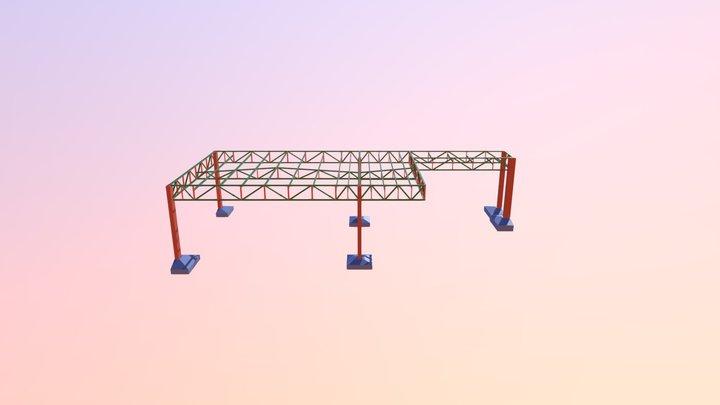 Cobertura Metálica (Garagem) 3D Model
