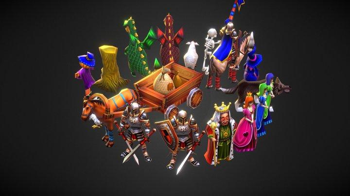 Low-poly Fantasy Pack 3D Model