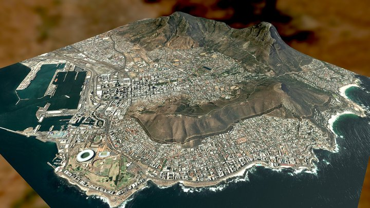 Cape Town - South Africa 3D Model