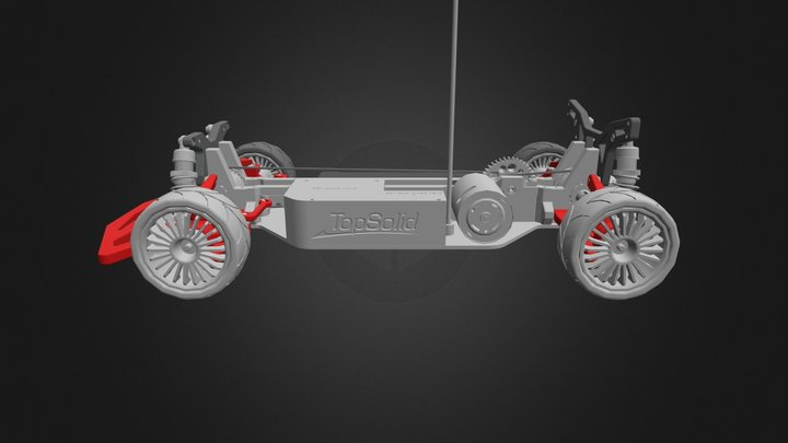 OpenRC Touring Car 3D Model