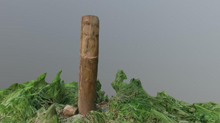 Russian totem. Mythological wooden sculpture 3D Model