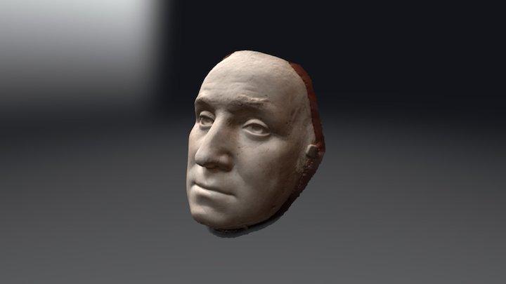 George Washington Life Mask, Heudon, 1785 3D Model