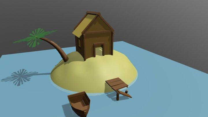 île d'aventurier [SpeedModeling] 3D Model