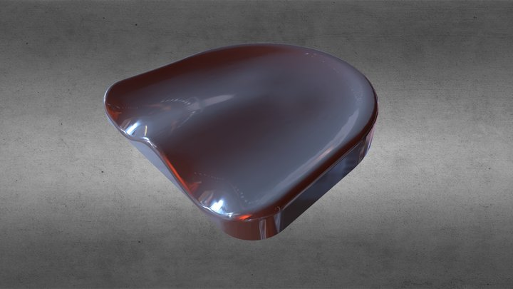 bar stool seat / сиденье барного стула 3D Model