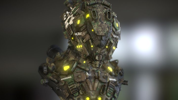 helmet sci fi Z19 by oscar creativo 3D Model