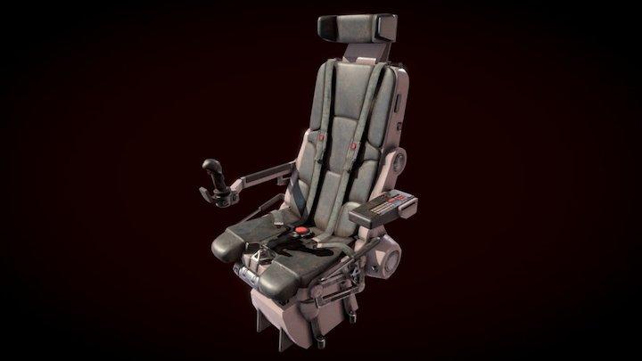 Pilot Seat 3D Model