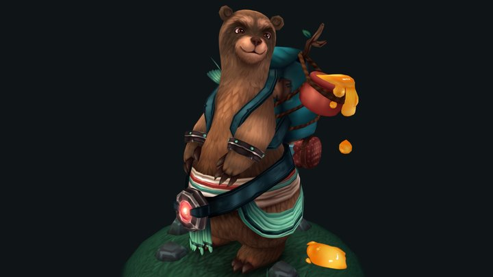 The Bear-coon 3D Model