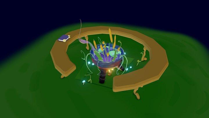 Cauldron Pond 3D Model
