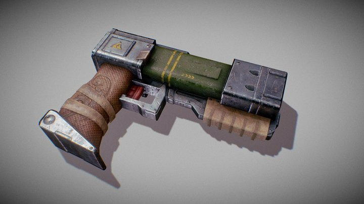 Sci Fi Gun - Realistic/Stylized 3D Model