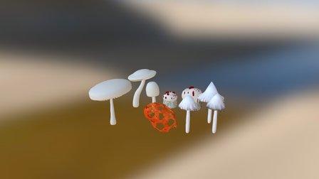 done mushrooms1 3D Model