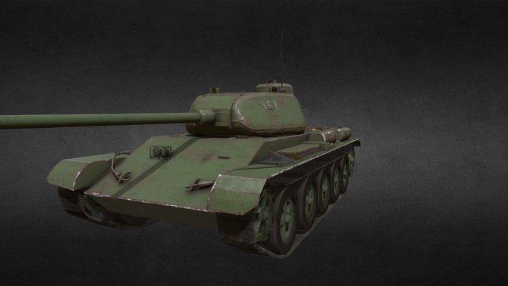 T-44 3D Model